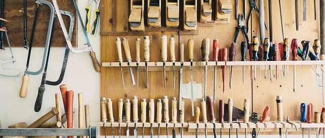 foto herramientas de un taller