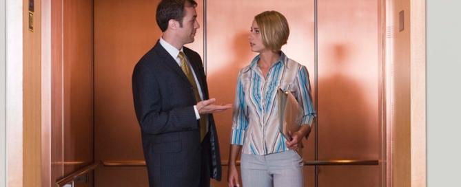 personas en el ascensor