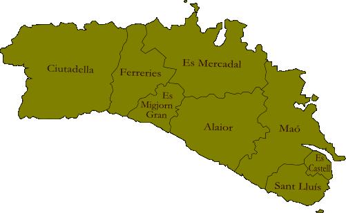 plano municipios menorca