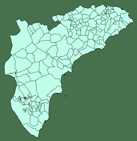 licencia municipios alicante