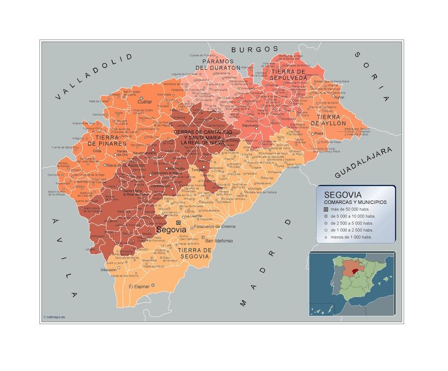 plano municipios segovia