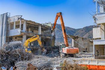 demolicion edificio aislado