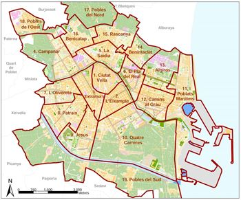 distritos valencia