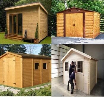 caseta de campo de madera