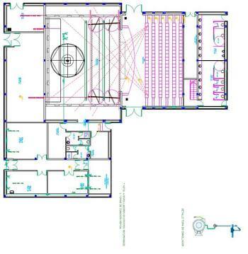 plano de la planta del teatro
